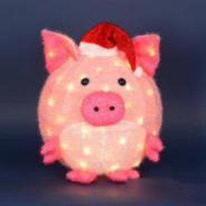 20 lighted 3 d chubby pink pig in santa hat outdoor christmas yard art decoration httpwwwamazoncomdpb00pjg0ypqrefcm_sw_r_pi_awdm_3rhoub1fg6pv6