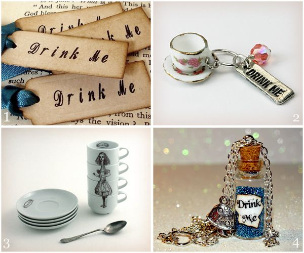Drink Me finds from Etsy would refresh any Alice in Wonderland fan's collection.
