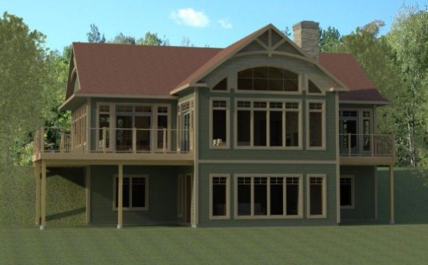 Two Story Images Of Basement Walkout Patios Popular Muskoka Style Cottage Cottage Design House Plans Farmhouse Cottage Design Plans