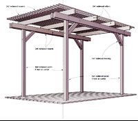redwood pergola plan pdf photo dog park pinterest. Black Bedroom Furniture Sets. Home Design Ideas