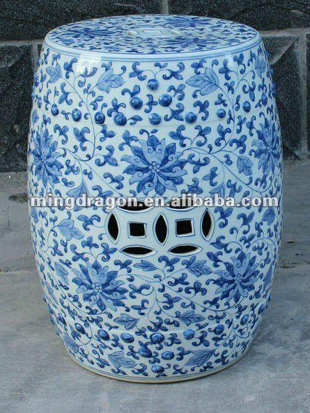 Antiques Chinois Blanc Et Bleu En Ceramique Jardin Tabouret Autres Meubles Antiques Id Du Produit 603080820 Fr Ceramic Stool Garden Stool Ceramic Garden Stools