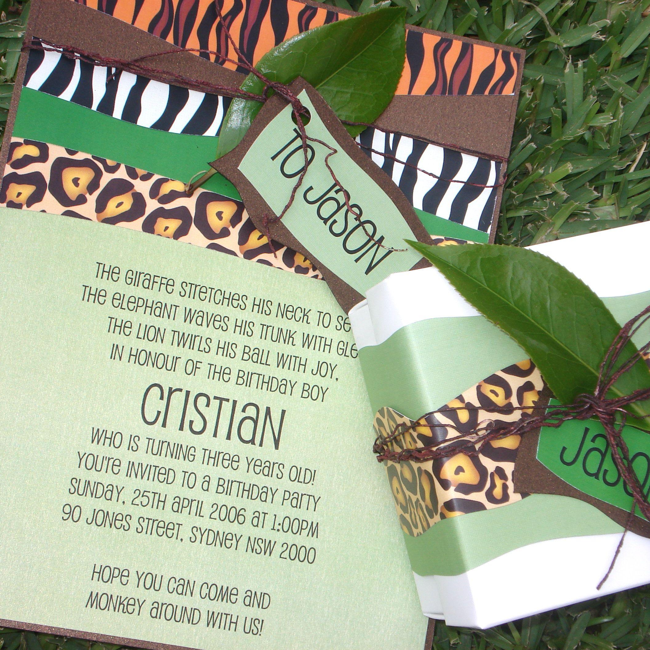 jungle book party invitations Google Search – Jungle Party Invitation