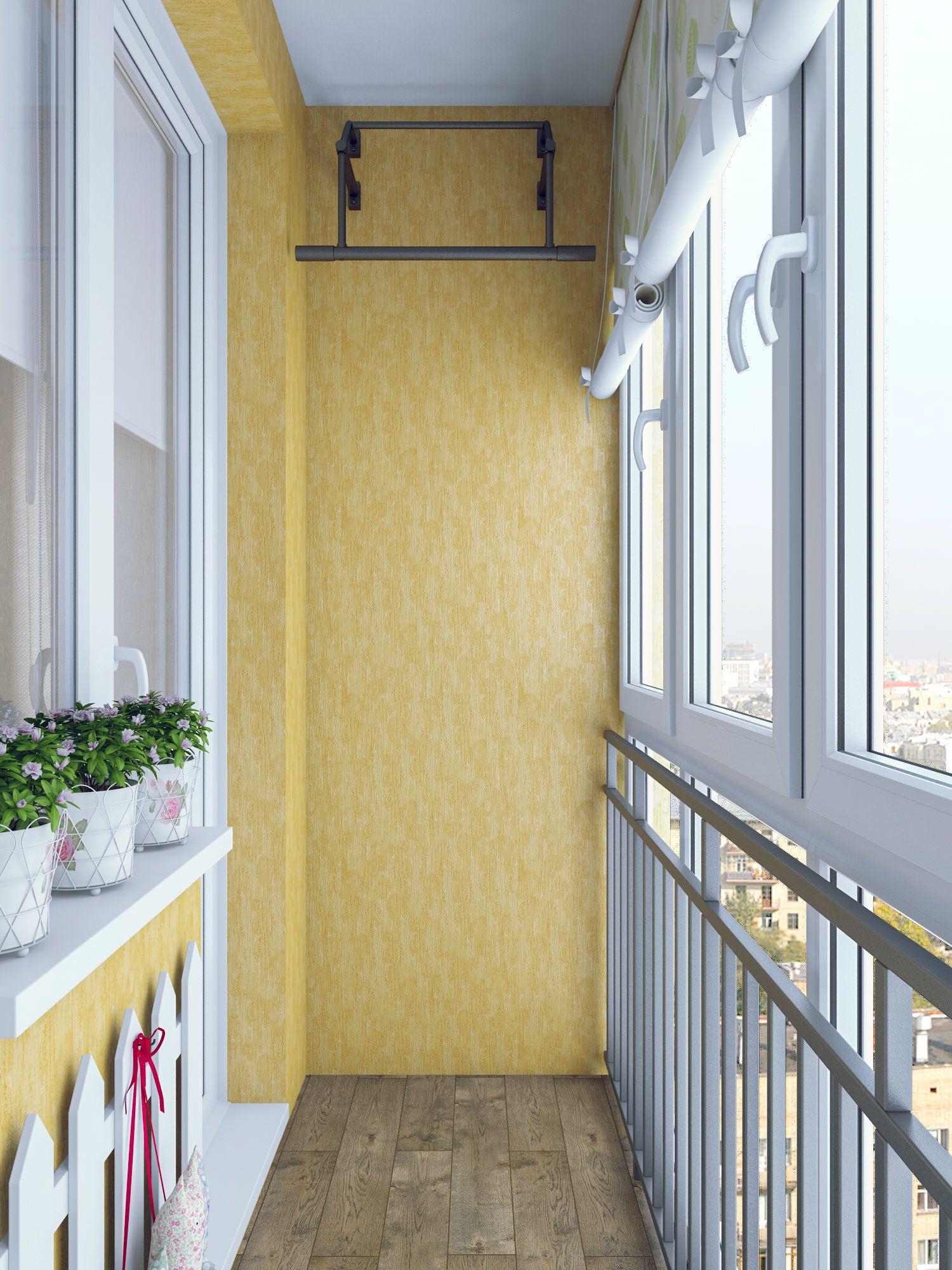 Дизайн балкона 2 м