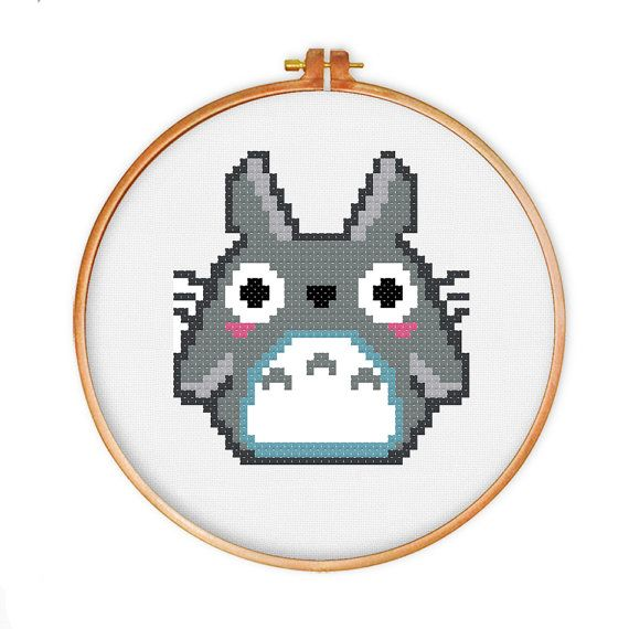 Totoro cross stitch pattern, Instant Download, cute cross stitch ...