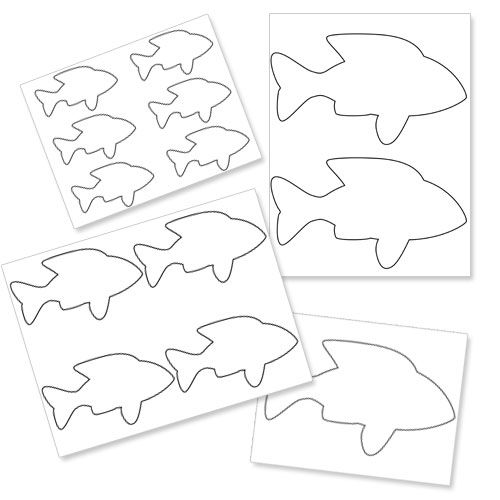 Small Printable Fish Template. 15 fun fish craft ideas