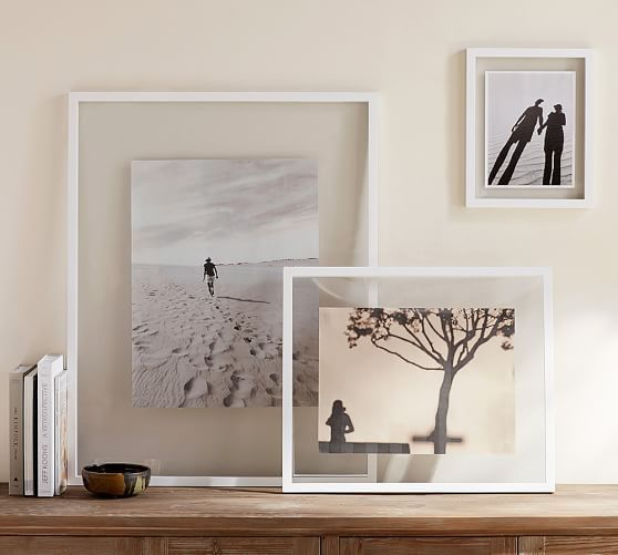 Floating Wood Gallery Frame White Wood Gallery Frames Gallery Frame Abstract Art Diy
