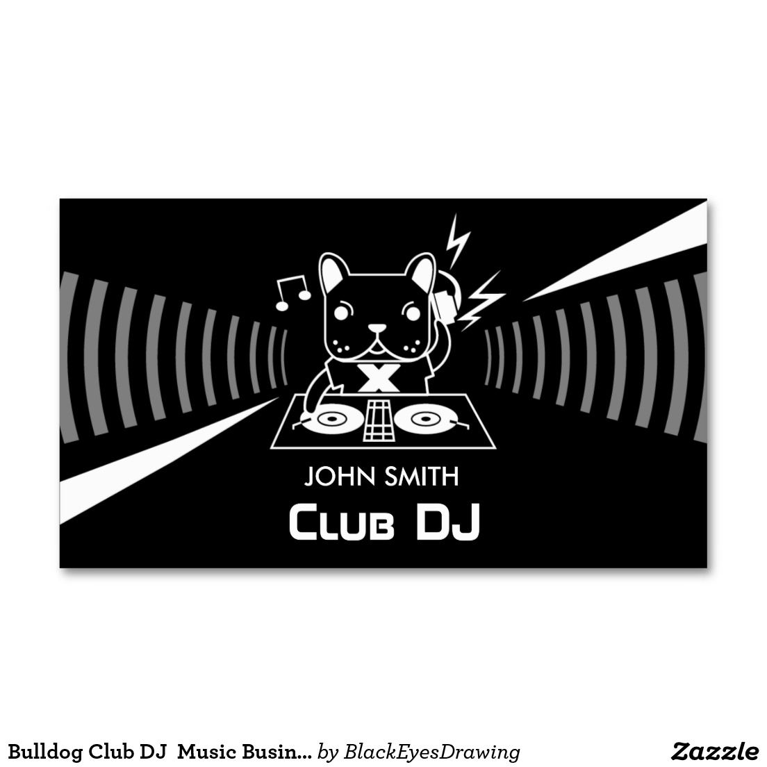 Bulldog club dj music business cards dj music business cards and bulldog club dj music business cards reheart Image collections