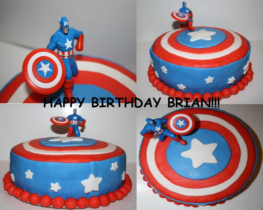 captain america cake ideas Captain America Places to Visit