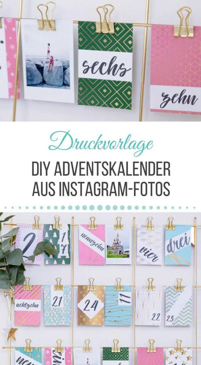 Advent calendar DIY with DIY Instagram photos including print template to download Advent calendar DIY with DIY Instagram photos including print template to download