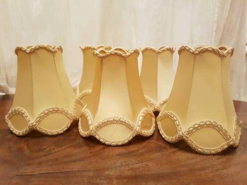 6 Lampenschirm für Kronleuchter Shabby Chic Kerzen Hochzeit Lampe in ...
