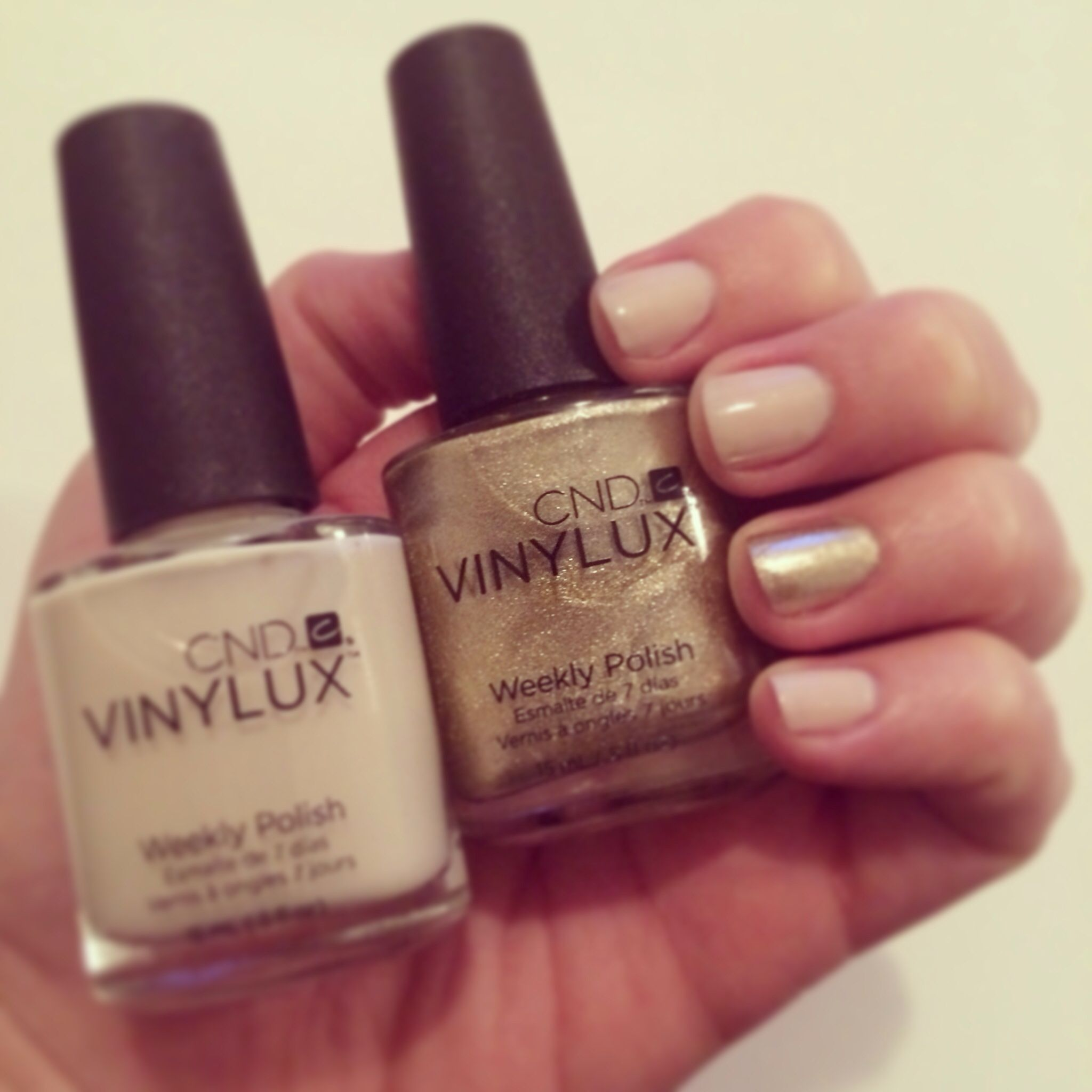 CNDVinylux Powder My Nose (nude) paired with #CNDVinylux in Locket ...