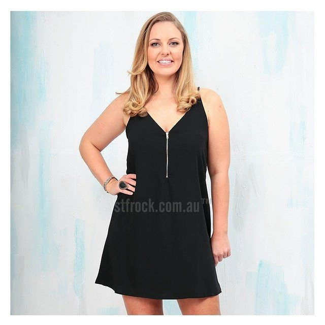 The 'Chelsea Reversible Dress in Black' gives you TWO dresses in one! Find it for only $49.90 at shop.stfrock.com.au #stfrock #dress #reversible #lbd #fashion