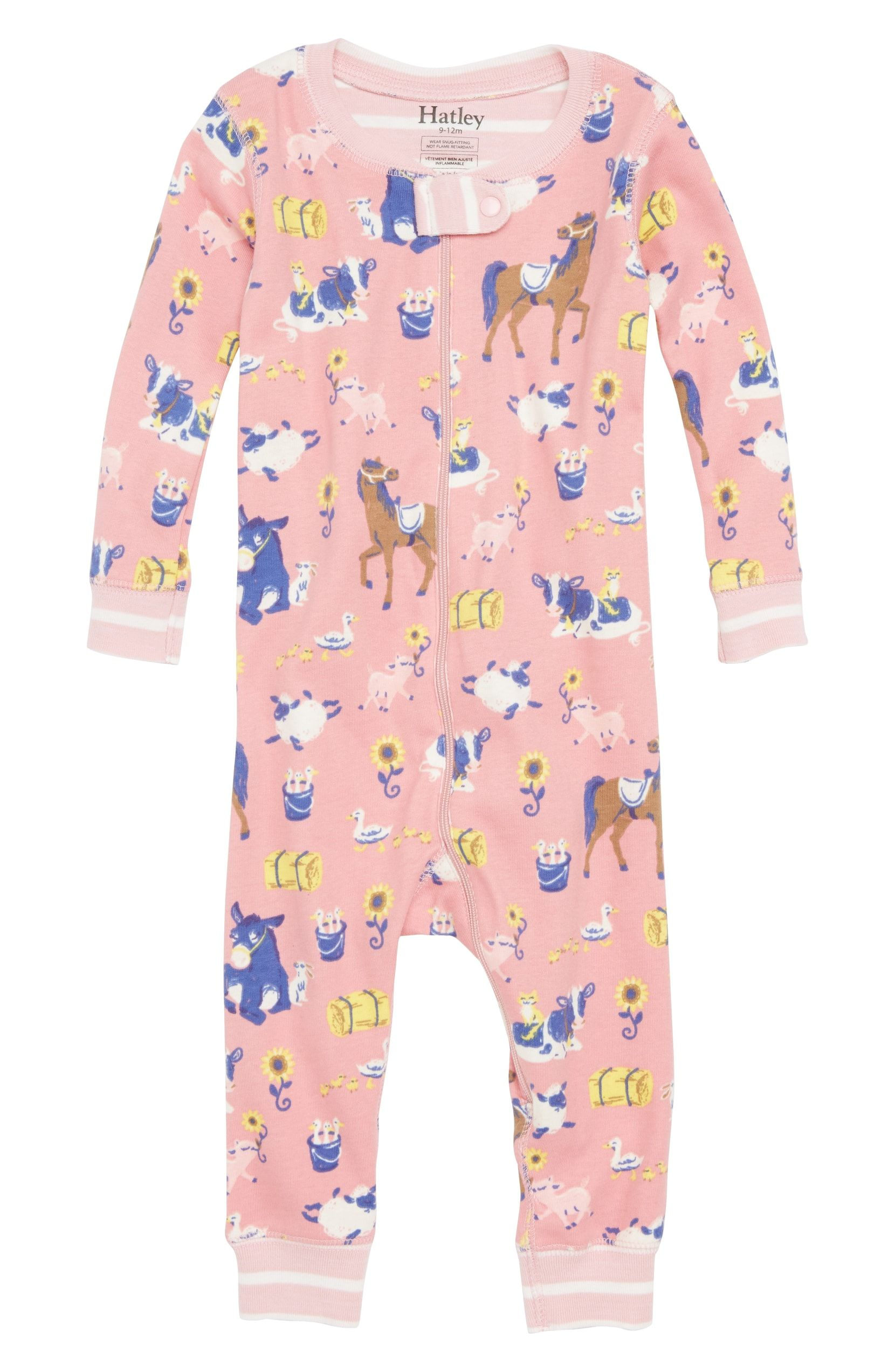 5dc999db6 Farm Friends Organic Cotton Fitted One-Piece Pajamas