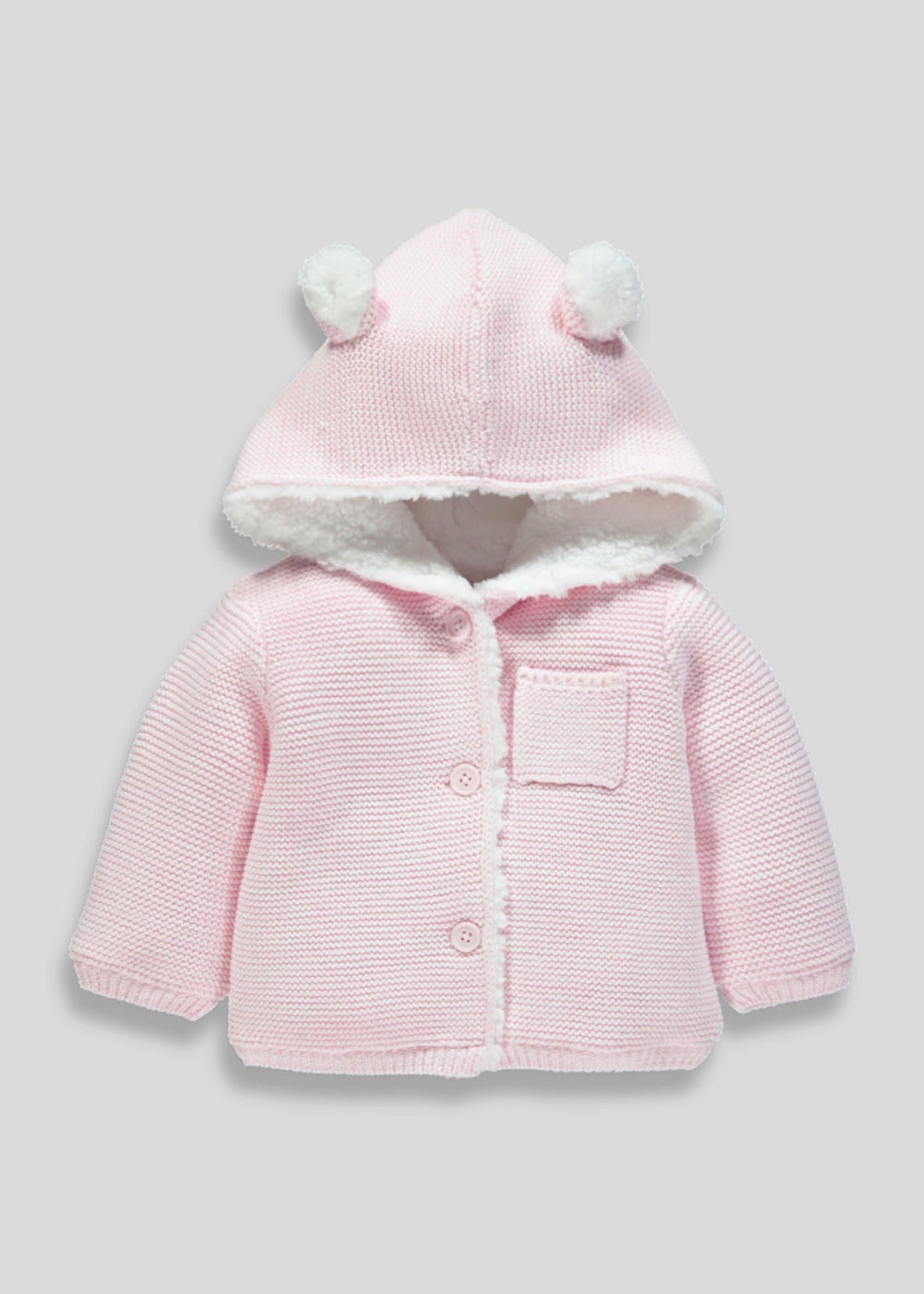 895749576 Unisex Bunny Hooded Cardigan (Tiny Baby-18mths)