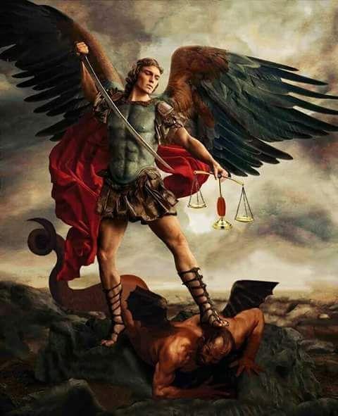 St . Michael the archangel defeats Lucifer! ❣Julianne McPeters❣ no pin limits   Archangels, Archangel michael, St  michael