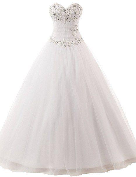 JAEDEN Damen Brautkleider Lang Hochzeitskleider A Linie ...