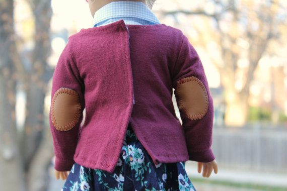 Studious  Garnet Sweater with Elbow Patches by MonChatDansLaLune, $16.00
