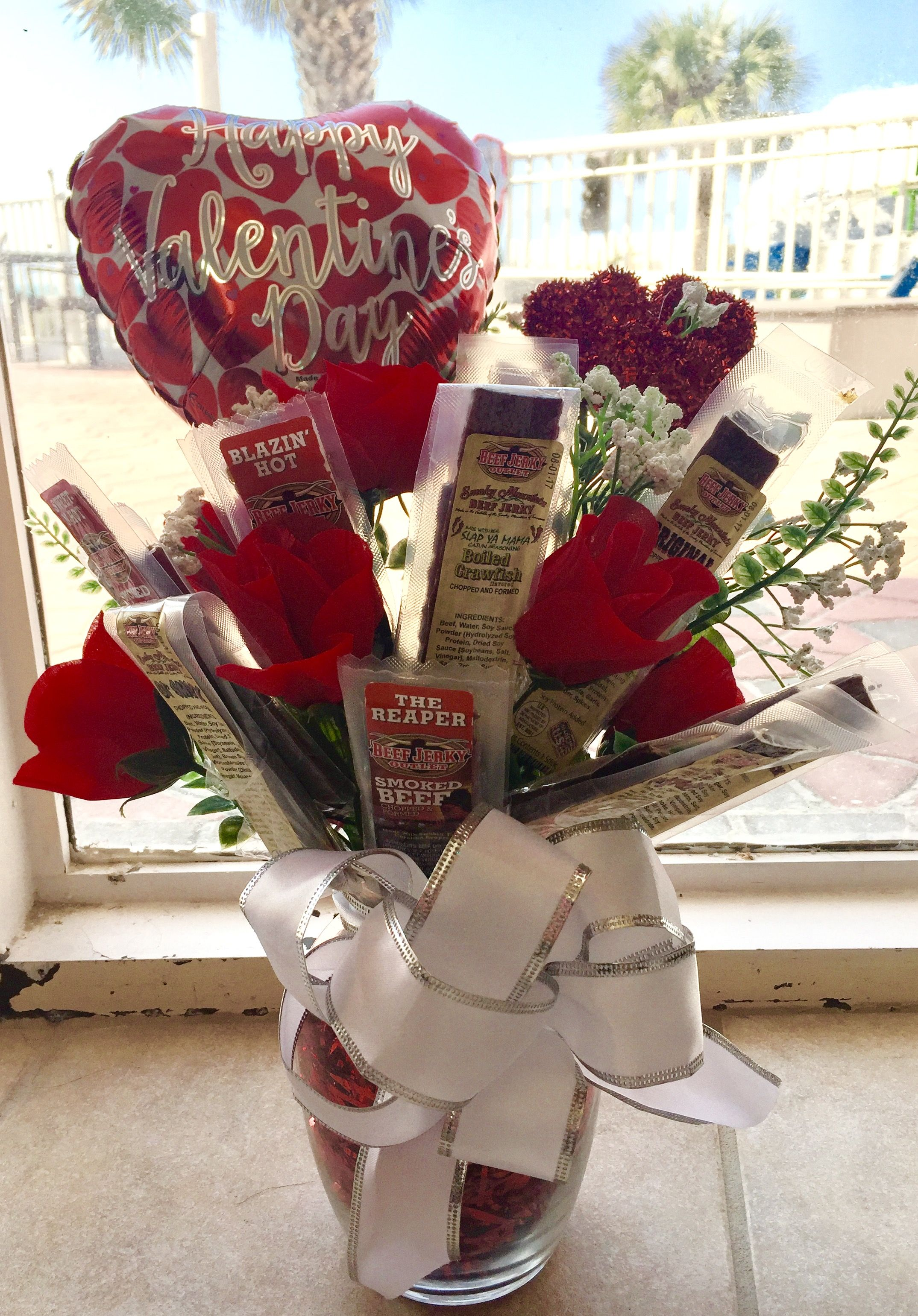 Beef Jerky Bouquet Diy : jerky, bouquet, Jerky, Bouquet, Perfect, Life., Includes, Individually, Wrappe…, Valentines, Gifts, Creative,, Gift,