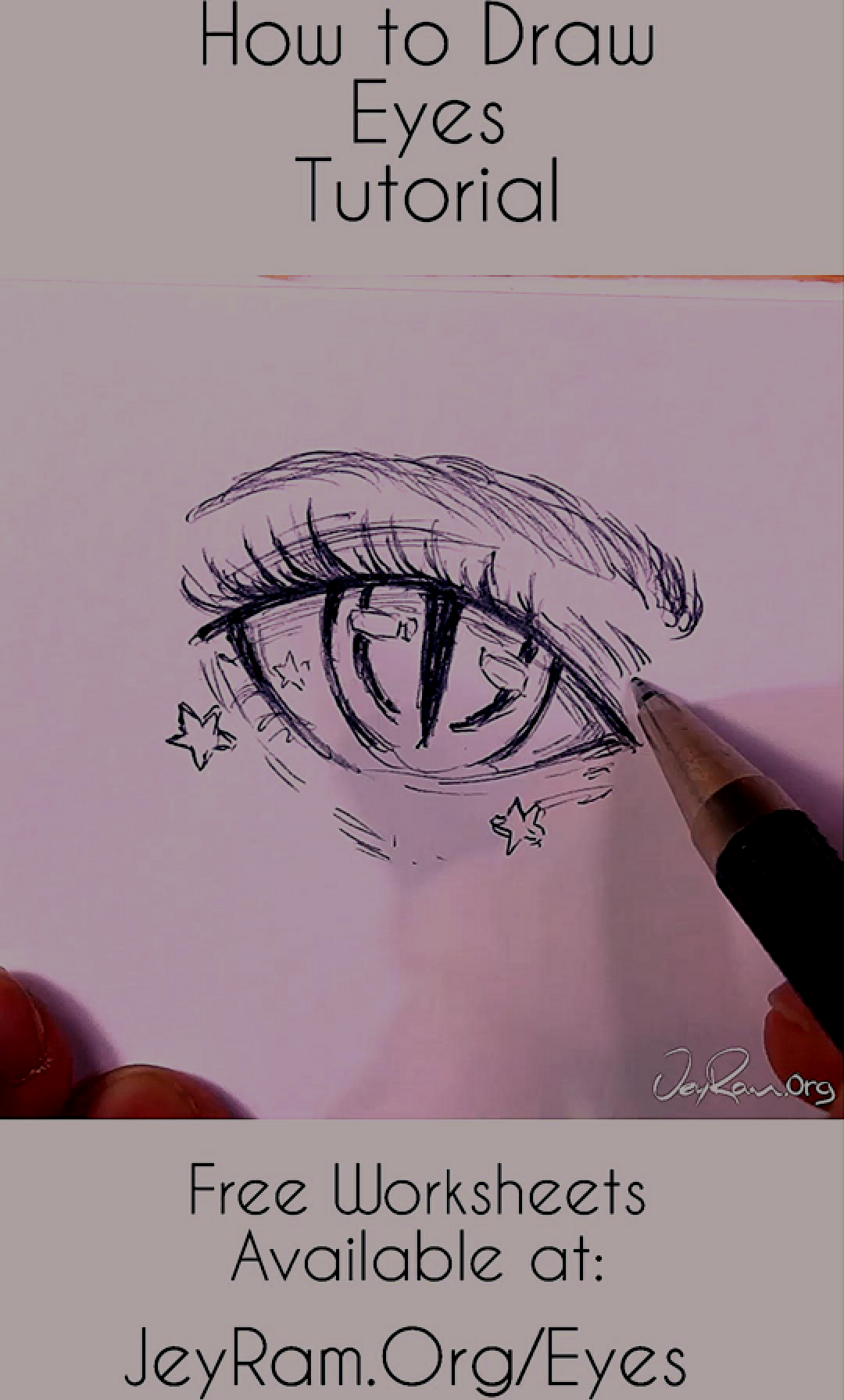 How To Draw Anime Eyes Step By Step For Beginners Free Printable Pdf By Jeyram In 2020 How To Draw Anime Eyes Anime Eyes Anime Drawings