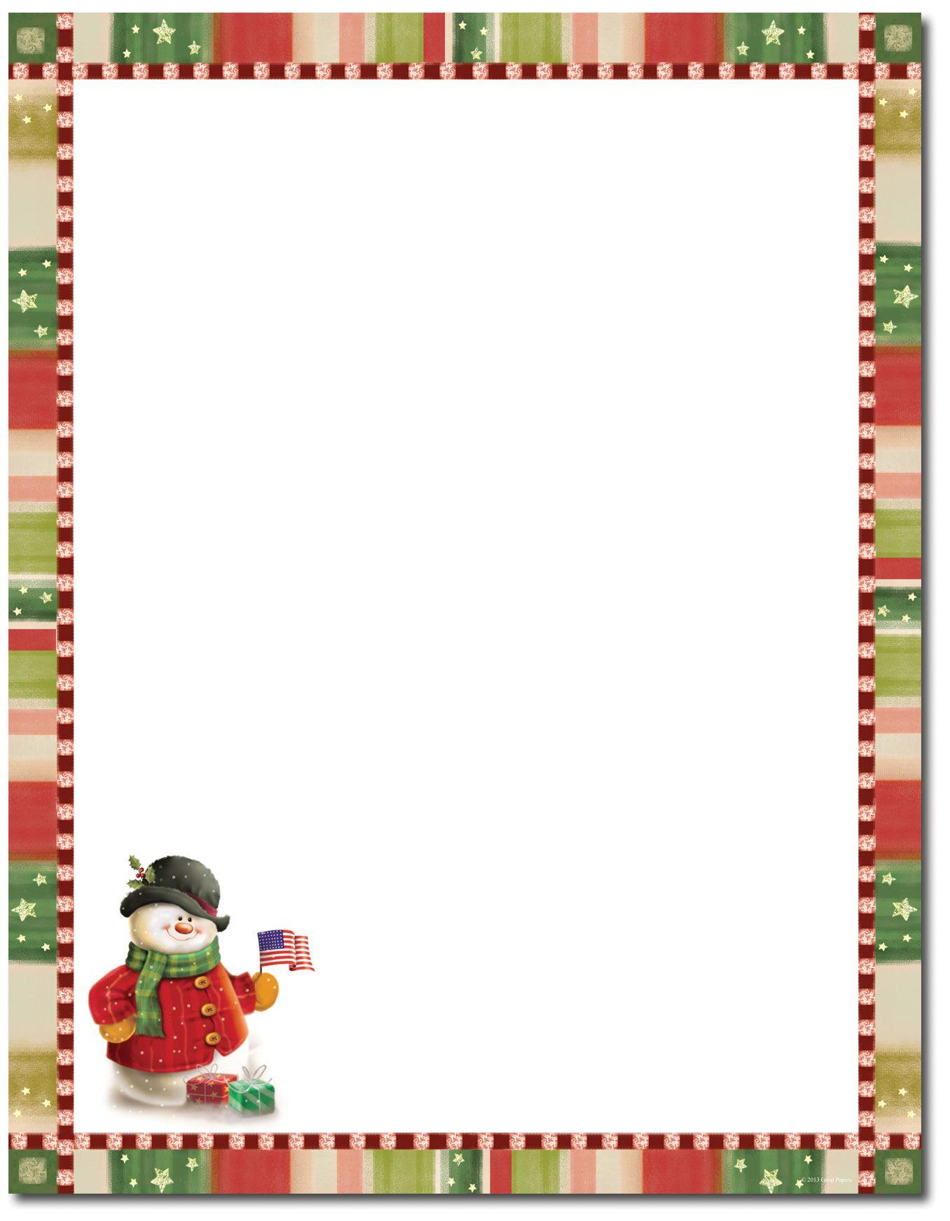 patriotic snowman letterhead
