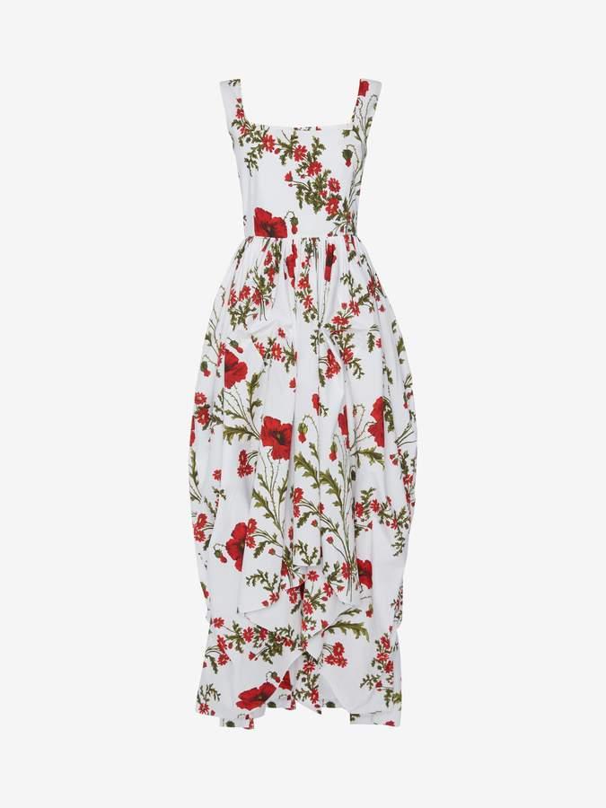 17e2f068 Alexander McQueen Poppyfield Poplin Midi Dress | Products in 2019 ...