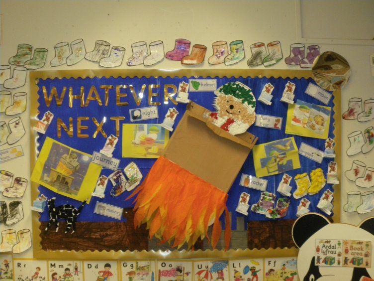 Whatever Next Display, classroom display, class display