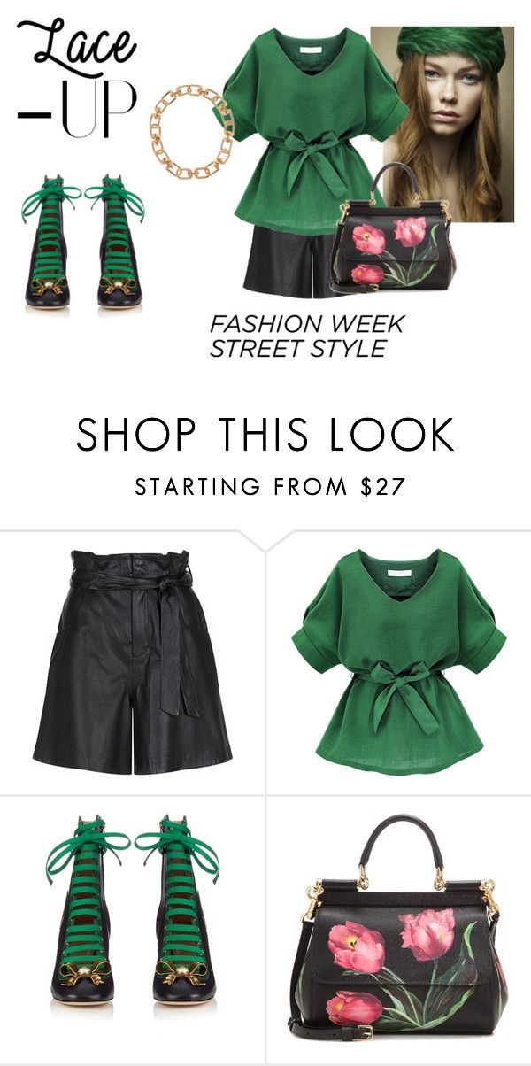 """I Envy Those Lace Ups"" by yabberjaw on Polyvore featuring Pretty Green, SET, Gucci, Dolce&Gabbana and Eddie Borgo"