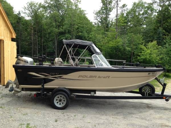 ... boat with Honda 4 stroke motor and 2005 Yacht Club Hawkeye trailer. Also included 2 manual downriggers front electric motor full enclosed canopy ... & 2005 Polar-kraft 178TC Fishing boat 17u00278 with Honda 90hp 4 stroke ...