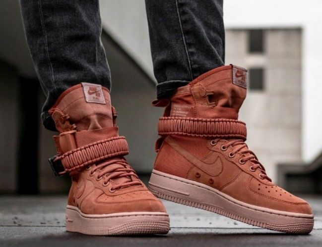 release date: 03d67 62015 Nike SF AF1 Special Forces Field Air Force 1 One Dusty Peach Men s  864024-204  Nike  AthleticSneakers