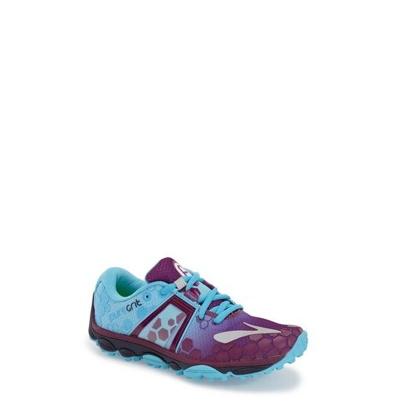 Brooks 'PureGrit 4' Trail Running Shoe (7.635 RUB) ❤ liked on Polyvore featuring shoes, athletic shoes, brooks footwear, rubber sole shoes, running shoes, lightweight shoes and lightweight trail running shoes
