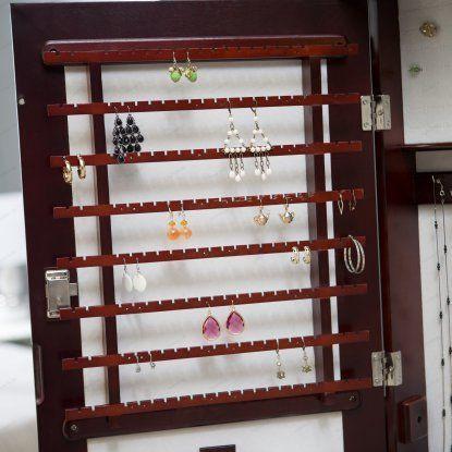 Belham Living Swivel Cheval Mirror Jewelry Armoire Jewelry