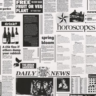 Newspaper Wallpaper In Black And White By AS Creation This One For The Downstairs Loo