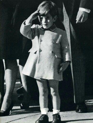 Jon Jon saluting his Father's casket, November 1963. I will never ever forget that bleak November!