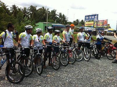 Cycling club from Singapore do biking trip in Vietnam (Mekong delta)  & Cambodia http://indochinacyclingtour.com/site/tour/view/12/133/biking-trip-from-sai-gon-angkor-wat-.html