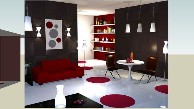 sketchup components 3d warehouse living room download high detailed free 3d models of living. Black Bedroom Furniture Sets. Home Design Ideas