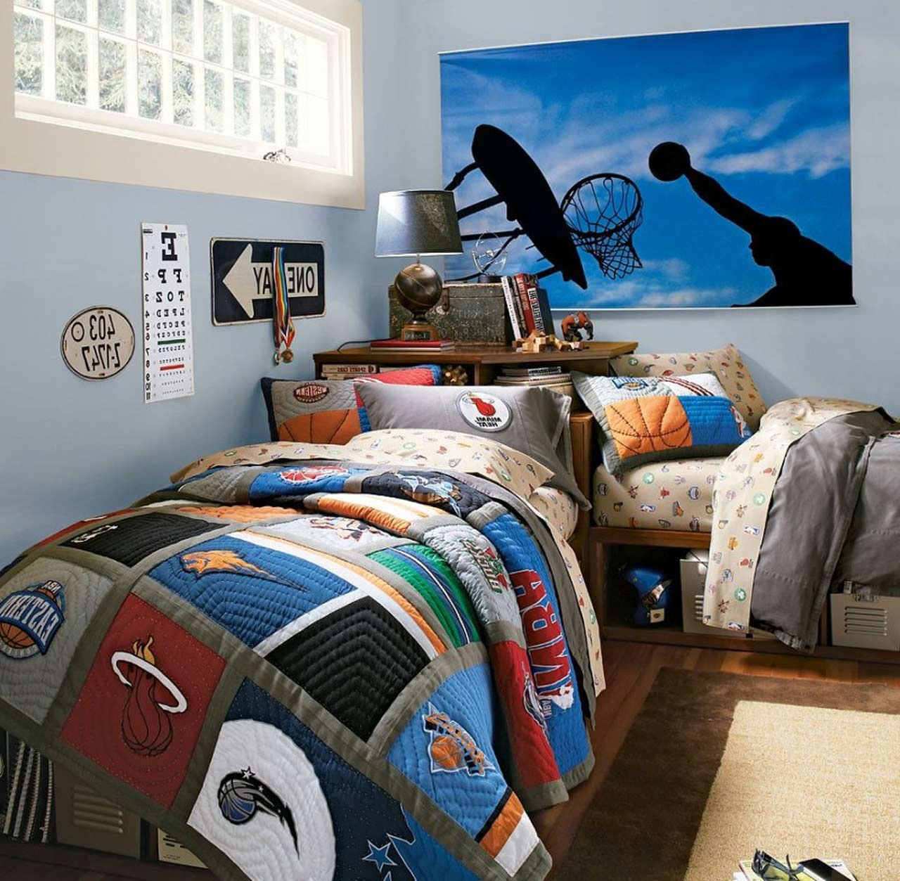 Basket Ball Boys Rooms Color Ideas ~ http://www.lookmyhomes.com/taking-a-look-at-the-boys-rooms-color-ideas/