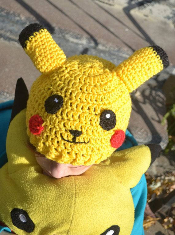 Pokemon Inspired Pikachu Hat FREE SHIPPING IN U.S. on Etsy, $24.00 ...