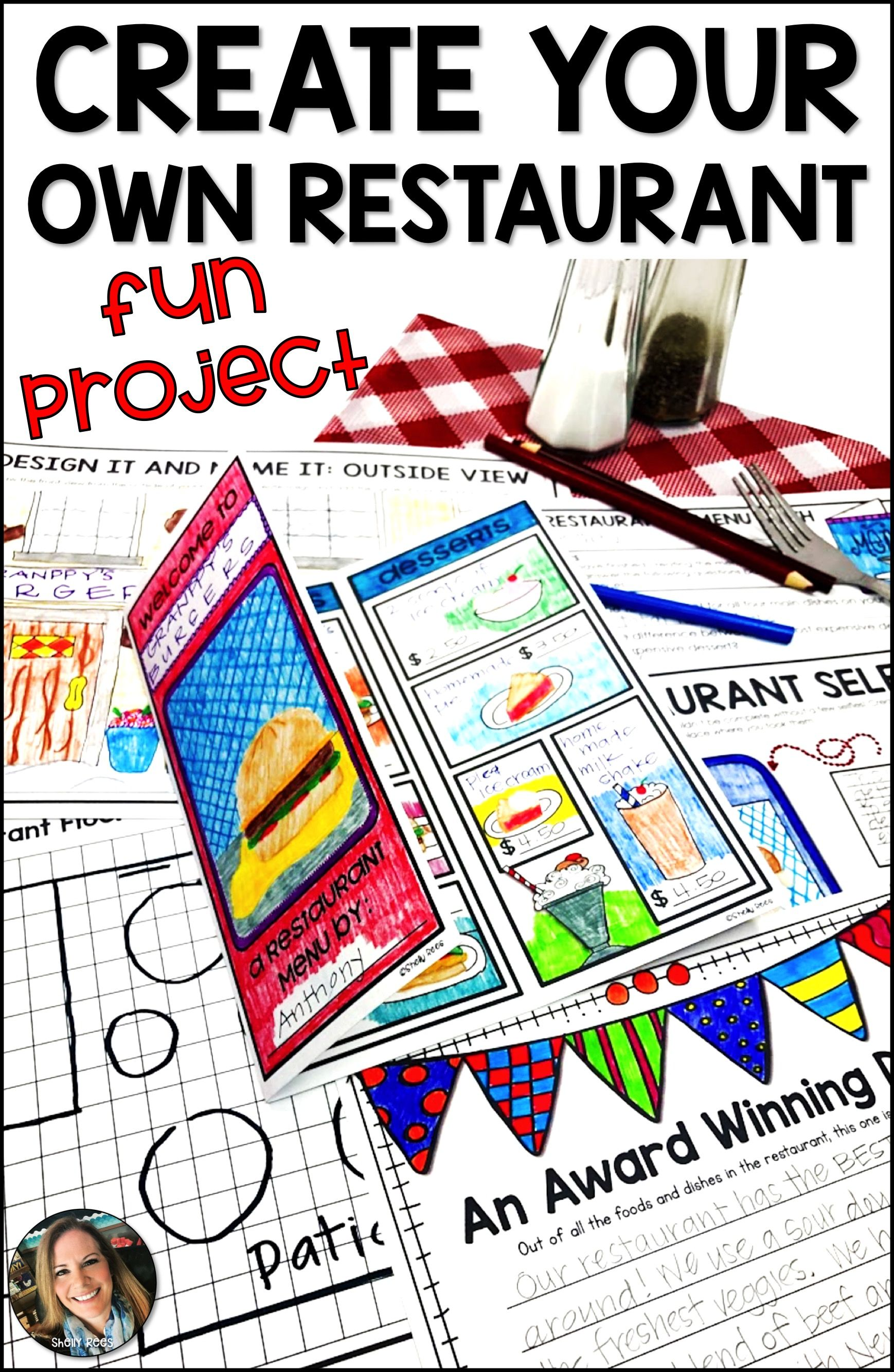 Restaurant Menu Project Based Learning Pbl With Images