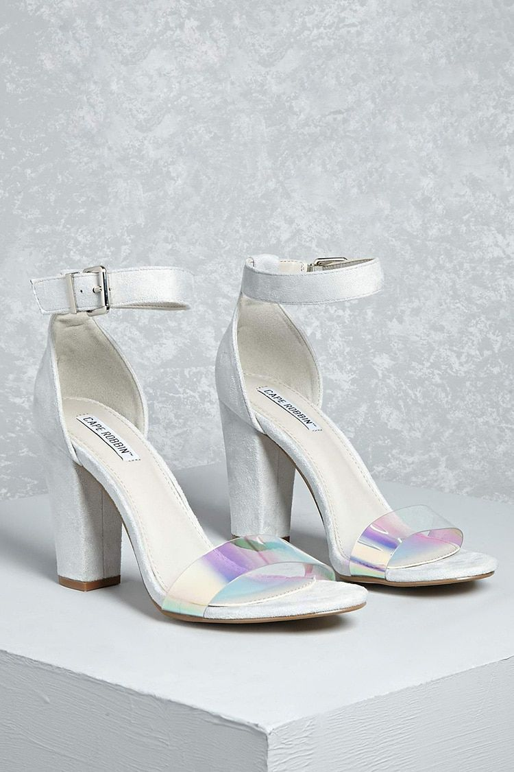 776b9796a507 Faux Suede Iridescent Heels