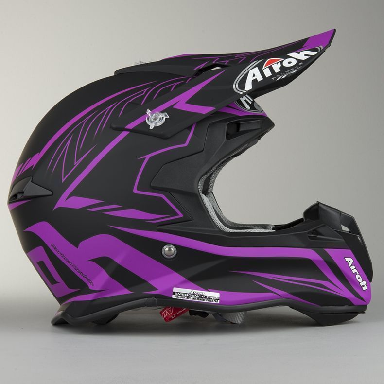 Airoh Terminator Slim Matte Violet Black Mx Women Helmet Dirtbike