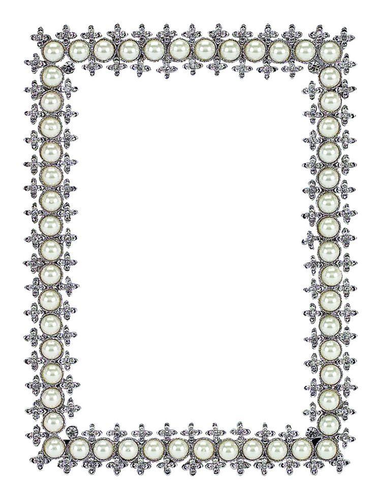 crystal picture frames | Olivia Riegel Crystal & Pearl Frame 2.5\