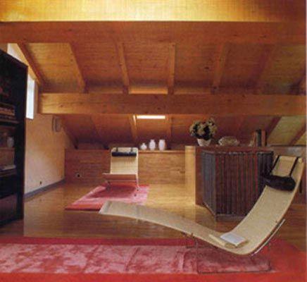 Ristrutturazione e arredo attico - Zona relax - Maria Teresa Azzola Designer - Bruno Rota Designer  - Città Alta Bergamo 1986-1987