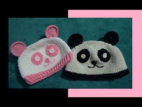 DIY Como hacer un gorro crochet ganchillo bebe con orejas de oso ...