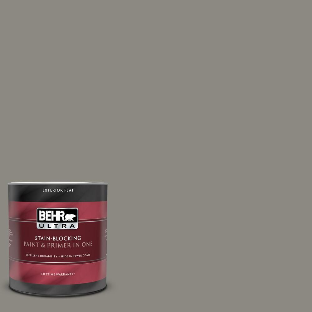 Behr Ultra 1 Qt Bxc 55 Concrete Sidewalk Flat Exterior Paint And Primer In One 485304 The Home Depot Behr Ultra Interior Paint Exterior Paint