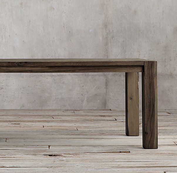 Reclaimed Russian Oak Parsons Rectangular Dining Table. Restoration  HardwareWood ...