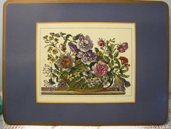 Pimpernel Vintage placemat set/traditional cork placemat set ...