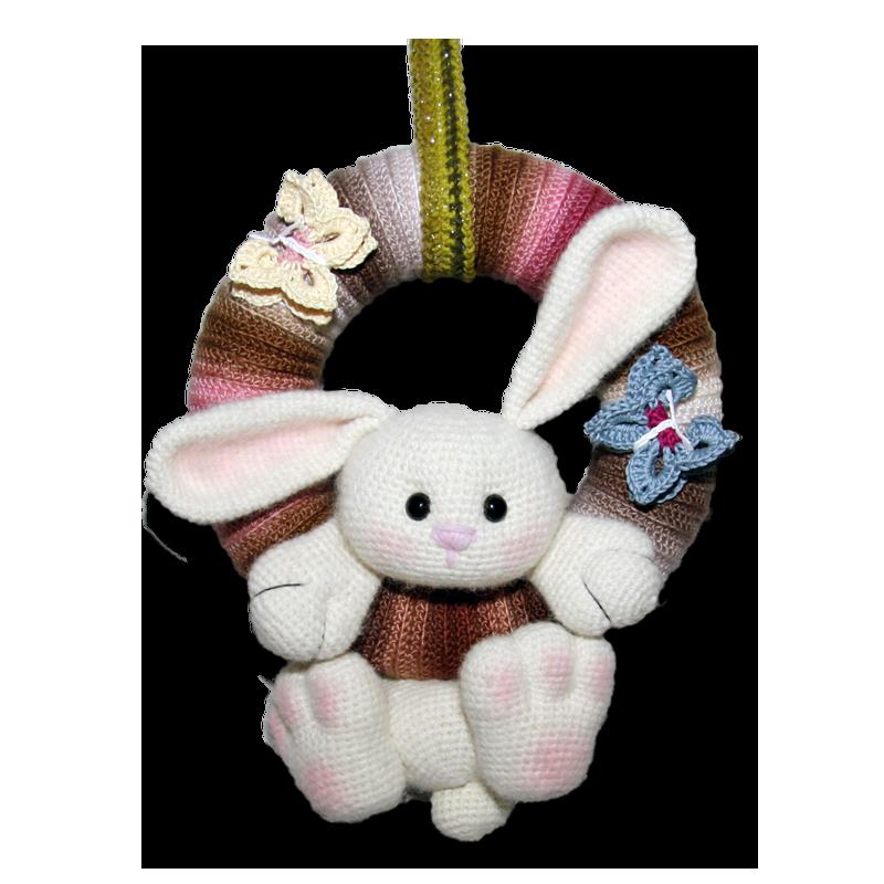 Türkranz kostenlose Anleitung Hase Ostern Auf der Seite gibt es auch ...