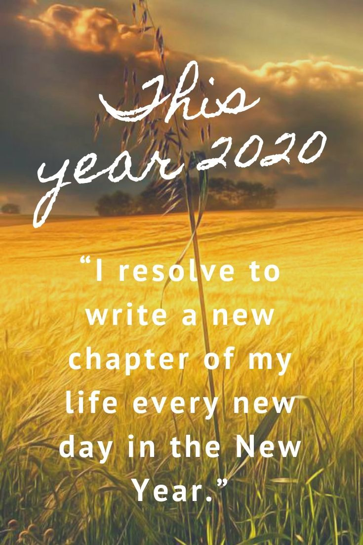New year resolution quotes fresh start 2020.