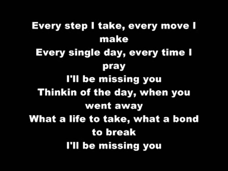 Puff Daddy - I'll Be Missing You (LYRICS) | My love lyrics ...