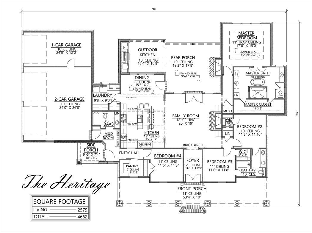 The Heritage Plan by Madden Home Design | House plans | Pinterest ...